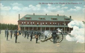 San Francisco CA Morning Salute Cannon Firing at Presidio c1910 Postcard