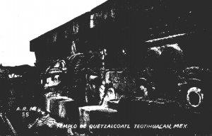 Mexico Teotihuacan Temple De Quetzalcoatl Real Photo