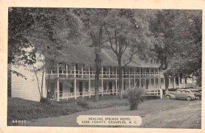 Crumpler North Carolina Healing Springs Hotel Vintage Postcard JI658250