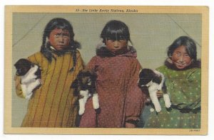ALASKA, Six Little Arctic Natives, 1930-40s