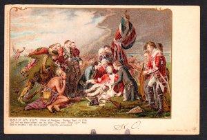 Death of Gen. Wolfe - Pioneer card - American History Art Publishing Company