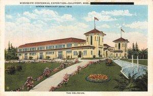 Mississippi Centennial Exposition Coliseum Gulfport 1919 MS WB VTG P131