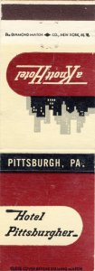 Pittsburgh, Pennsylvania/PA Match Cover, Hotel Pittsburgher