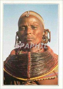 Postcard Modern Woman Samburu Kenya