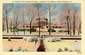 VA - Charlottesville. University of Virginia, Rotunda in Winter