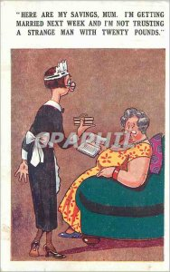 Old Postcard Here are my Savings Mum I'm Getting Married next Week and I'm no...