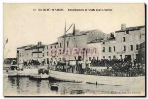 Old Postcard Steam Bagnard Ile de Re Saint Martin forcats Boarding for Guyana...