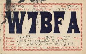 HELENA , Montana , 1931 ; QSL Radio Postcard