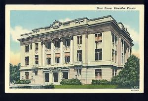 Early Hiawatha, Kansas/KS Postcard, Court House, 1930's?