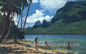 Tahiti French Polynesia Pan Am, Paopae Bay, Cook's Bay, Moorea Tahiti Pan Am,...