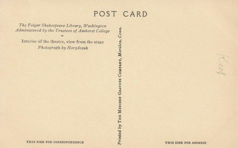 WASHINGTON D.C., 1900-10s ; The Folger Shakespeare Library