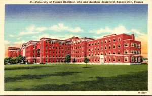 Kansas Kansas City University Of Kansas Hospitals Curteich