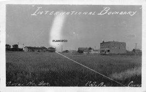 PORTAL, NORTH DAKOTA INTL BOUNDARY-EARLY 1900'SRPPC REAL PHOTO POSTCARD