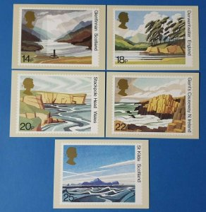 Set of 5 PHQ Stamp Postcards Set 52 FIRST DAY ISSUE British Landscapes 1981 CE1