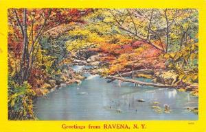 Ravena New York~Quiet Glen on Hannacrois Creek~Fall Colors~Nice & Warm Here~1953