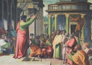 Raphael Paul Preaching At Athens V&A Museum Painting Postcard