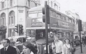 Royal Albert Hall Number 9 Bus in Rush Hour London Postcard