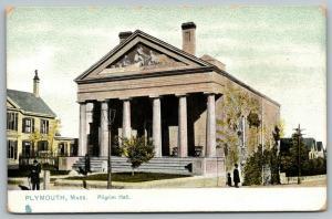 Plymouth MA Pediment~Landing Allegory~Pilgrim Hall~Greek Revival~TUCK 1907 UDB