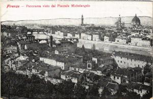 CPA FIRENZE Panorama visto dal Piazzale Michelangelo. ITALY (501415)