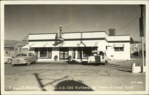 Richland GA T&T Restaurant US 280 Roadside Real Photo Postcard - Cline?