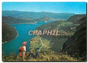 Modern Postcard Lago di Lugano Panorama dal Monte Generoso