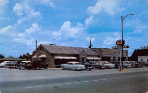 Sylacauga Alabama~Old Hickory Restaurant~1950s Cars~Station Wagon~Postcard