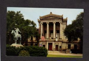 MA Museum of Fine Art Boston Mass Massachusetts Postcard Indian Statue