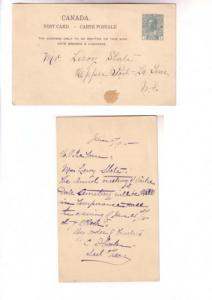 Cemetery Meeting Announcement, 1911, George V Canadian Postal Stationery