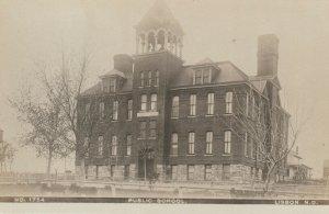 RP: LISBON , North Dakota ,1900-10s ; Public School ; Olson Photo