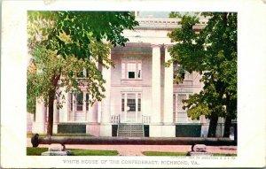 Vtg Postcard 1907 Jamestown Exposition Souvenir White House of the Confederacy