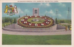 Sir Adam Beck Memorial Clock (Queenston), Niagara Falls, Ontario, Canada, 191...