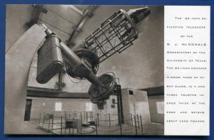 Fort Davis Texas tx McDonald Observatory 82 inch Reflector real photo postcard 2