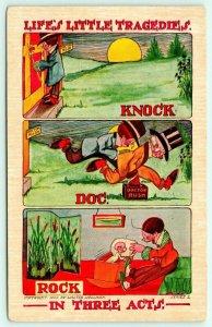 Walter Wellman Comic~Life's Little Tragedies~Three Acts~Knock! Doc! Rock!~1911