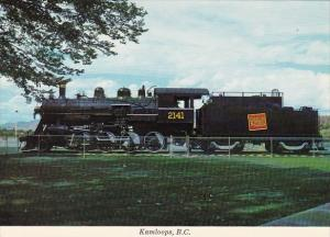 Canada Canadian National Railway Locomotive #2141 Riverside Park Kamloops Bri...