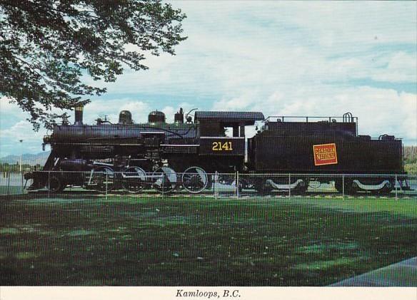 Canada Canadian National Railway Locomotive #2141 Riverside Park Kamloops Bri...