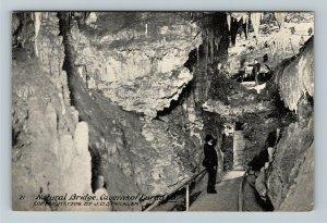Luray VA-Virginia, Luray Caverns Natural Bridge Cave, Gentleman Vintage Postcard