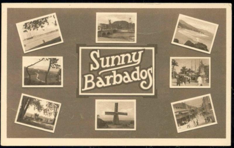 barbados, B.W.I., Multiview, Mill, Bridge, Street Scene (1940s)