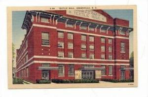 Textile Hall (Exterior), Greenville, South Carolina, 1930-1940s