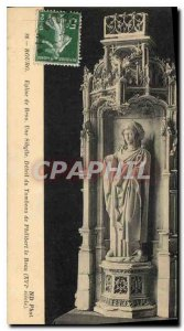Postcard Old Brou Church Bourg Sibyl a detail of the tomb of Philibert le Bea...