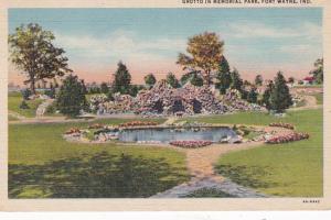 Indiana Fort Wayne Grotto In Memorial Park Curteich