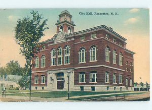 Divided-back CITY HALL SCENE Rochester New Hampshire NH AF2138