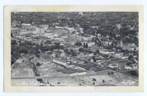 RPPC  Air View of Downtown Walla Walla Washington WA