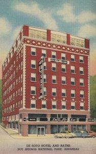 HOT SPRINGS , Arkansas, 1930-40s ; De Soto Hotel & Baths