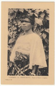 Benin; Dahomey, No 6, Porto Novo, A Native Woman PPC, By ER, Unused, c 1920's