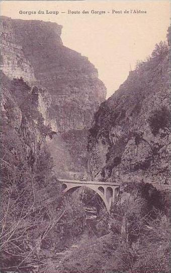France Gorges du Loup Pont de l'Abime