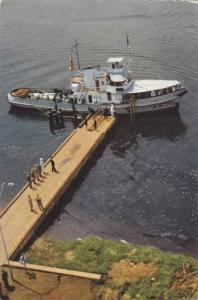 A950, Military Boat docked at pier, Voyage Du Roi Au Congo- Ete 1955