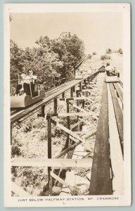 Mt Cranmore New Hampshire~Just Below Halfway Station~Real Photo Postcard~RPPC