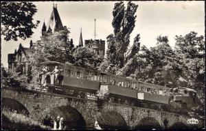 germany, DRACHENBURG, Drachenfelsbahn, Rack Railway (1955) RPPC