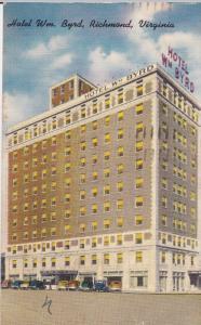 RICHMOND, Virginia, PU-1958; Hotel Wm. Byrd, Classic Cars