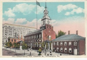 PHILADELPHIA, Pennsylvania, 1900-10s; Independence Hall, Chestnut Street